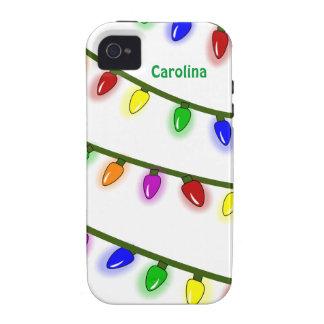 Nome colorido lunático do costume das luzes de Nat Capinhas iPhone 4/4S