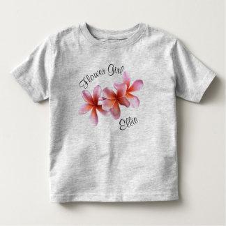 Nome cor-de-rosa do florista do Frangipani do T-shirts