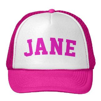 Nome curto cor-de-rosa personalizado boné