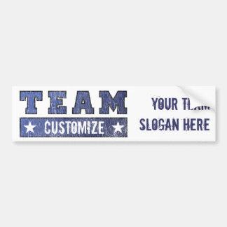 Nome customizável e slogan da equipe adesivo