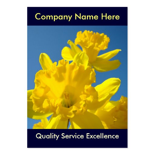 Nome da empresa amarelo dos Daffodils dos cartões