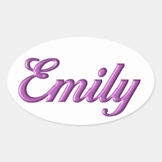 Nome da etiqueta de Emily