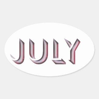 Nome da etiqueta de julho
