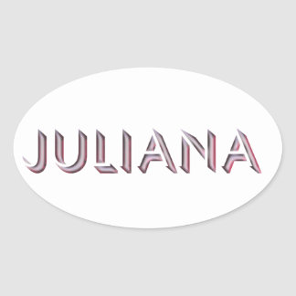 Nome da etiqueta de Juliana
