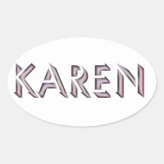 Nome da etiqueta de Karen