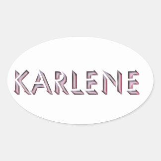 Nome da etiqueta de Karlene