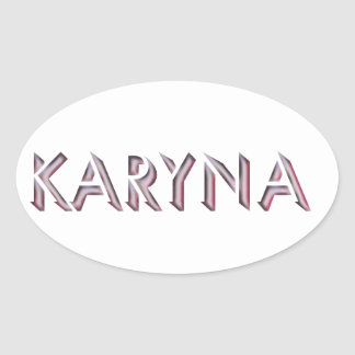 Nome da etiqueta de Karyna