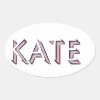 Nome da etiqueta de Kate