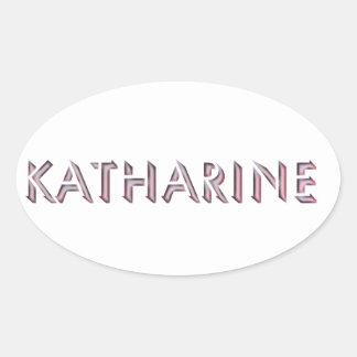 Nome da etiqueta de Katharine