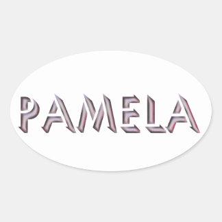 Nome da etiqueta de Pamela