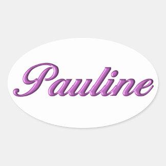 Nome da etiqueta de Pauline