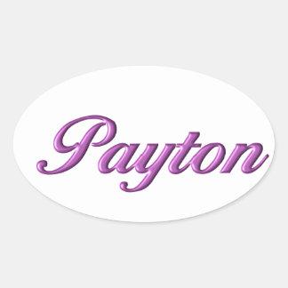 Nome da etiqueta de Payton