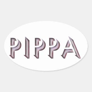Nome da etiqueta de Pippa