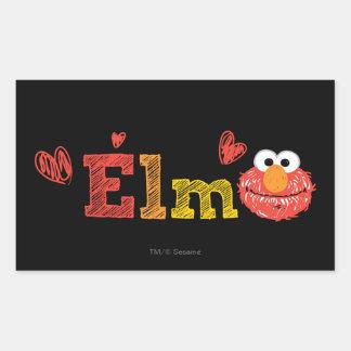 Nome de Elmo Adesivo Retangular