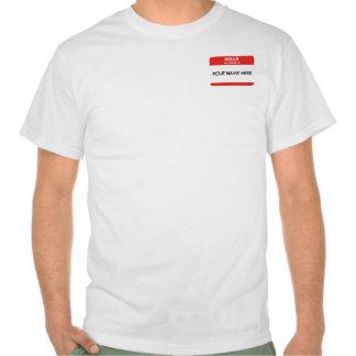 Nome de etiqueta t-shirts