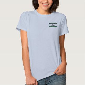 Nome de etiqueta do membro de Ofishal do ponto de Camiseta