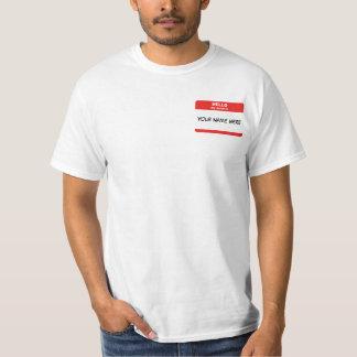 Nome de etiqueta t-shirt