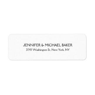 Nome de família moderno liso minimalista elegante etiqueta endereço de retorno