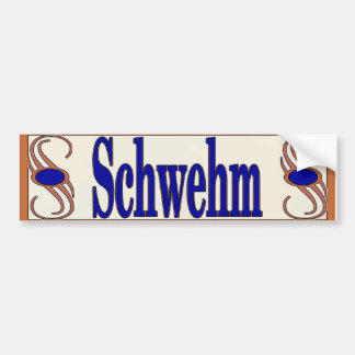 Nome de Schwehm no autocolante no vidro traseiro Adesivo Para Carro