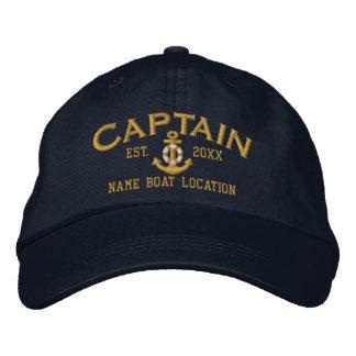 Nome do ano para personalizar o capitão LifeSaver Boné Bordado