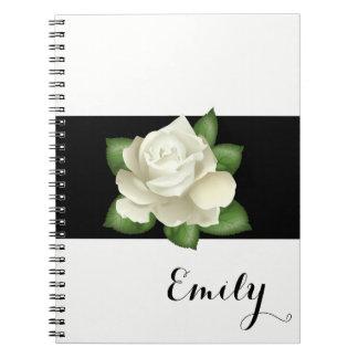 Nome do costume do caderno do rosa branco da