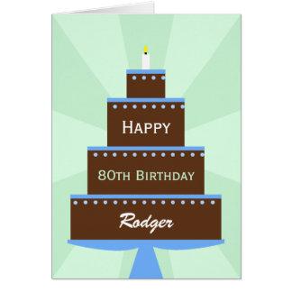 nome do costume do cartão de aniversário do 80