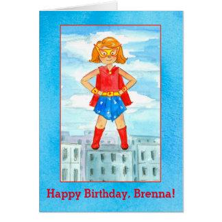 Nome do costume do feliz aniversario da menina do cartão comemorativo