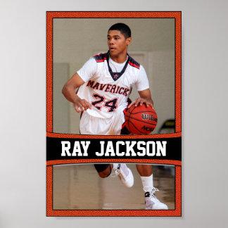 Nome do jogador de basquetebol & poster dos