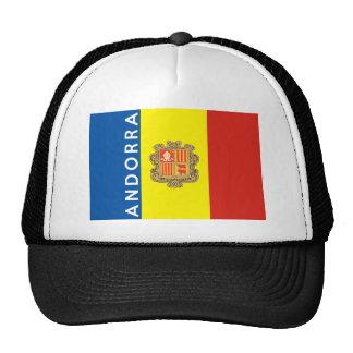 nome do texto da bandeira de país de andorra boné