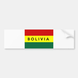 nome do texto da bandeira de país de Bolívia Adesivo Para Carro