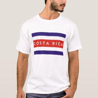 nome do texto da bandeira de país de Costa-Rica Camiseta