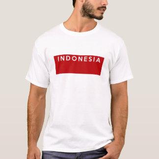 nome do texto da bandeira de país de Indonésia Camiseta