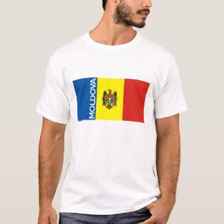 nome do texto da bandeira de país de moldova camiseta