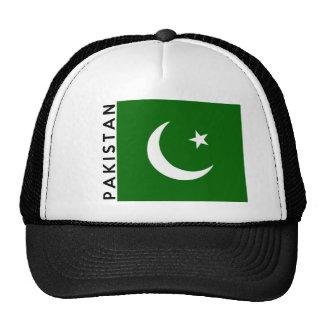 nome do texto da bandeira de país de Paquistão Boné