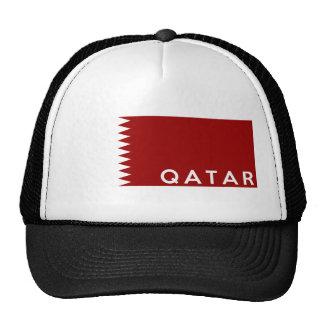 nome do texto da bandeira de país de qatar boné