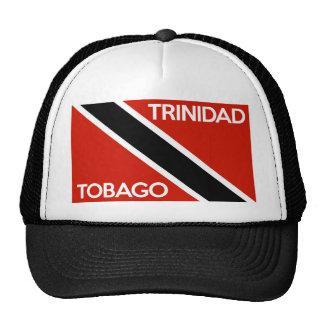 nome do texto da bandeira de país de trinidad boné
