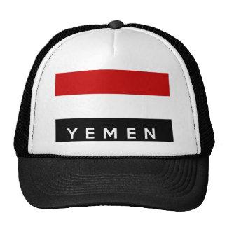 nome do texto da bandeira de país de yemen boné