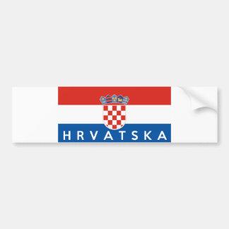 nome do texto do hrvatska do país da bandeira de adesivo para carro