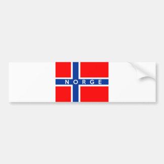 nome do texto do norge do país da bandeira de adesivo para carro