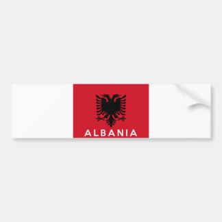 nome do texto do país da bandeira de Albânia Adesivo Para Carro