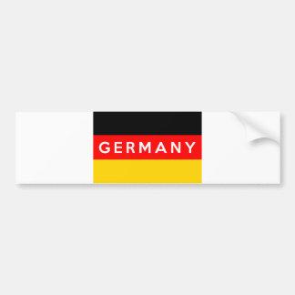 nome do texto do país da bandeira de Alemanha Adesivo Para Carro