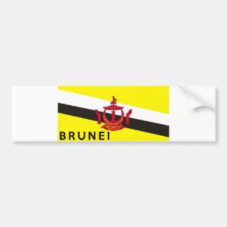 nome do texto do país da bandeira de brunei adesivo para carro