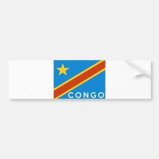 nome do texto do país da bandeira de Congo Adesivo Para Carro