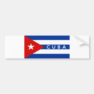 nome do texto do país da bandeira de Cuba Adesivo Para Carro