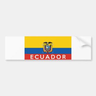 nome do texto do país da bandeira de Equador Adesivo Para Carro