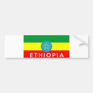 nome do texto do país da bandeira de Etiópia Adesivo Para Carro