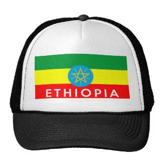nome do texto do país da bandeira de Etiópia Boné
