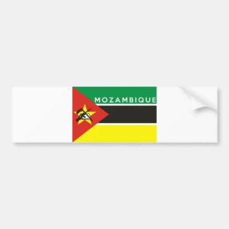 nome do texto do país da bandeira de mozambique adesivo para carro