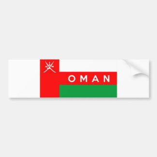 nome do texto do país da bandeira de oman adesivo para carro