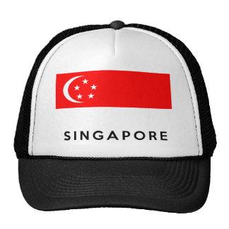 nome do texto do país da bandeira de singapore boné